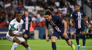 El PSG confirmó la lesión de Cavani. AFP
