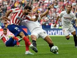 L'Atlético accroché 2-2 par Séville à 4 jours de la C1. AFP