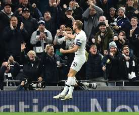 Harry Kane could be back in action in April. AFP