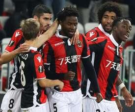 Nice s'offre les seizièmes de finale de l'Europa League. AFP