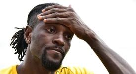 Adebayor no seguirá en Olimpia. AFP