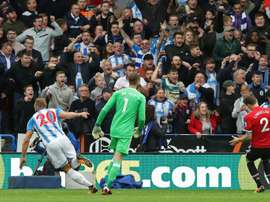 Manchester United anulado em Huddersfield. AFP