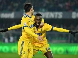 Le milieu de terrain de la Juventus Blaise Matuidi lors du match contre l'Hellas Vérone. AFP