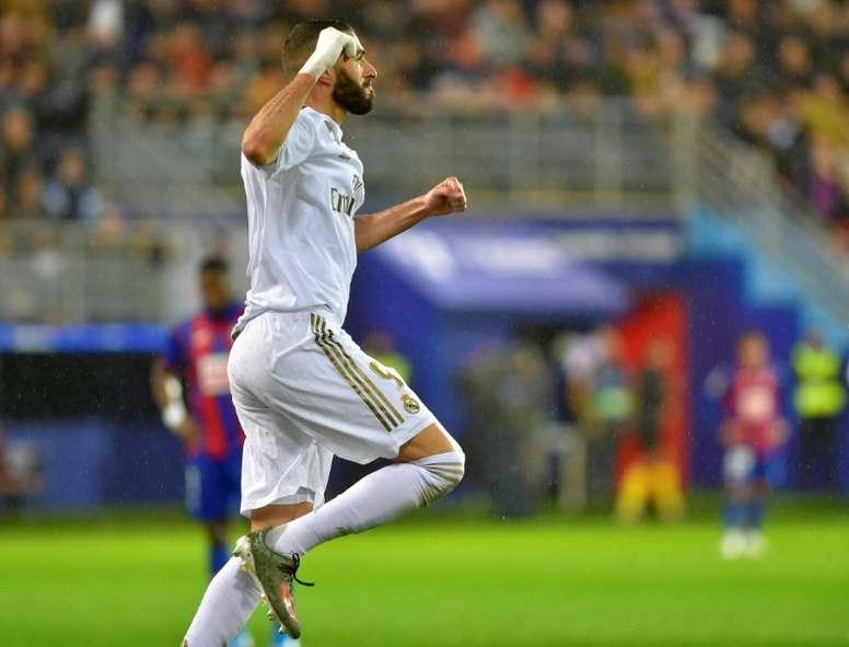 O Real depende dos gols de Benzema. AFP