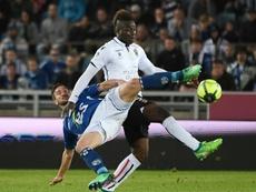 Balotelli, buteur sur penalty. AFP