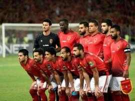 Al-Ahly avant la finale aller de la Ligue des champions d'Afrique. AFP