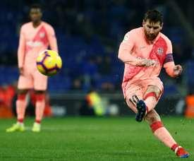 Messi était sur un nuage. AFP