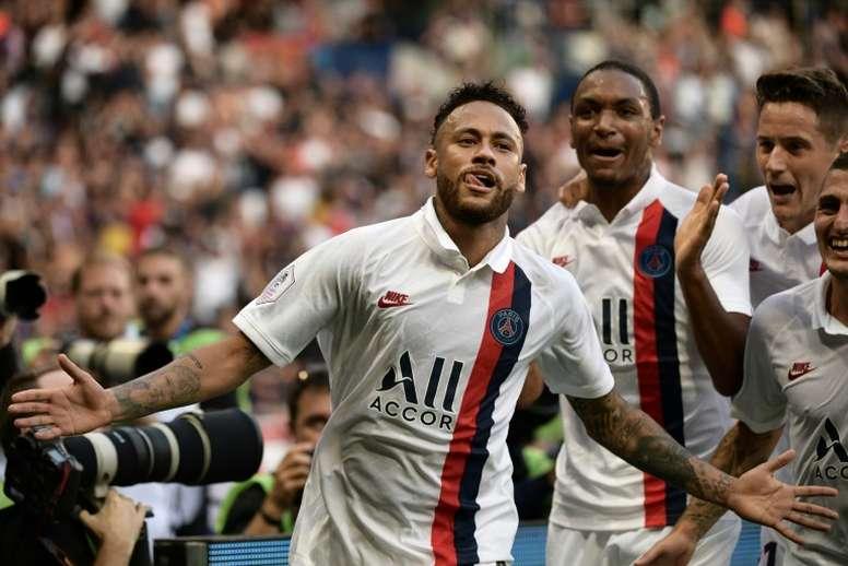 Neymar de retour dans le groupe du PSG. AFP