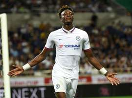 Chelsea want Abraham to show his potential against big teams. AFP