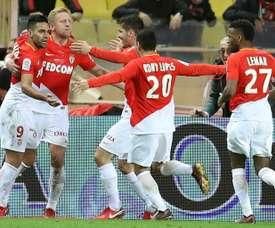 Radamel Falcao se reconcilió con el gol en el triunfo del Mónaco ante el Niza. AFP