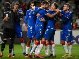 Les Rangers de Steven Gerrard premiers qualifiés pour les 8es d'Europa League. AFP