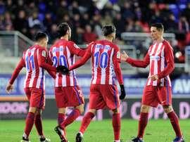 L'Atletico Madrid arrache le match nul à Eibar grâce à un but de Juanfran, en Coupe du Roi. AFP