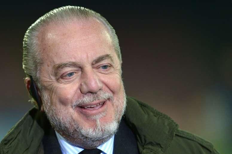 Le président du club de Naples, Aurelio De Laurentiis, à Naples, le 11 décembre 2013