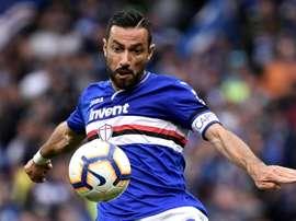 L'attaquant de la Sampdoria, Fabio Quagliarella. AFP