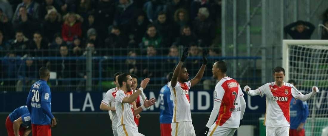 El Mónaco se ha dejado otros dos puntos ante el Caen. AFP