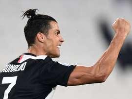 Cristiano Ronaldo é o vice-líder da lista de artilheiros da Serie A. AFP