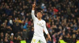 Casemiro lideró el triunfo del Real Madrid. AFP
