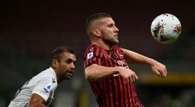 Le formazioni ufficiali di Milan-Parma. AFP