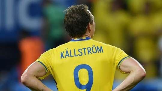Kallstrom earned 131 caps for Sweden. AFP