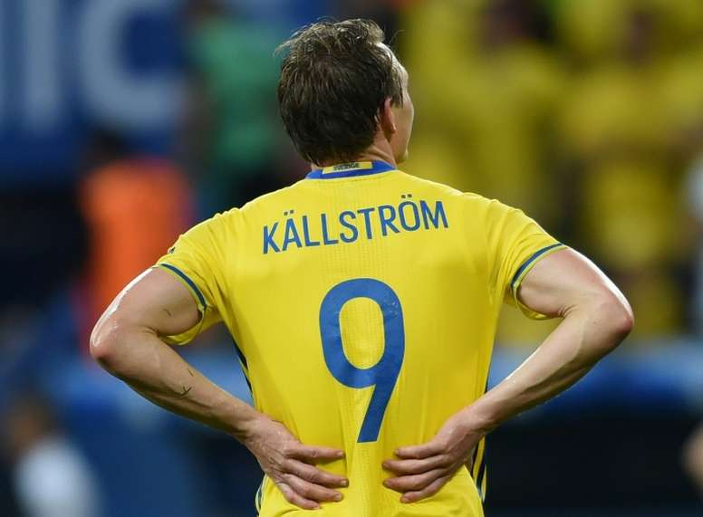 Kallstrom earned 131 caps for Sweden. AFP
