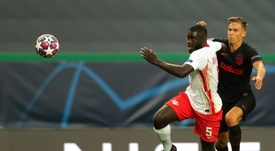 United want to sign Upamecano. AFP