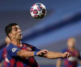 Suárez y una pesadilla ante el Bayern. AFP