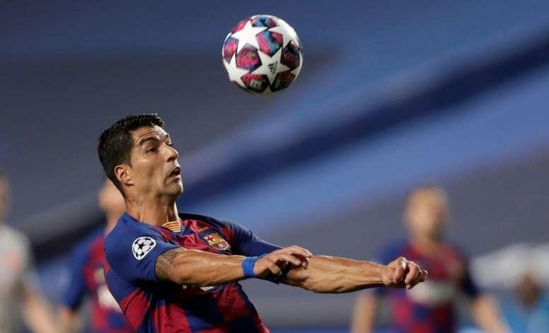 El último partido de Suárez con el Barça fue el 8-2 ante el Bayern. AFP