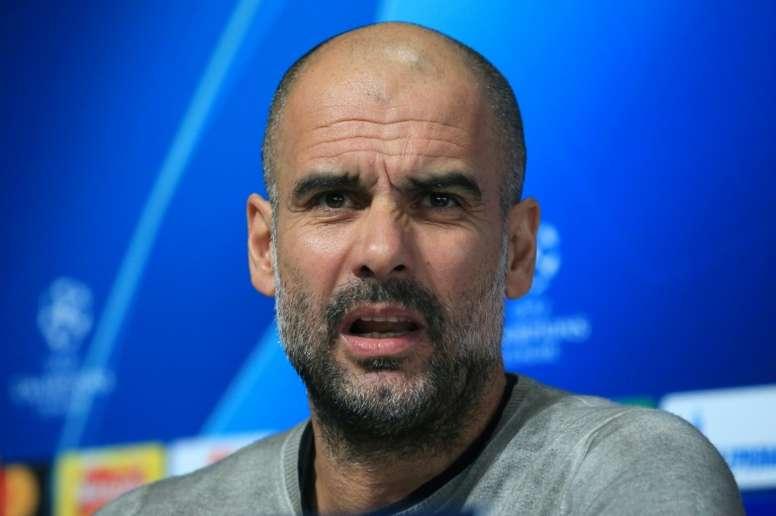Pep Guardiola no defraudó a nadie en rueda de prensa una vez más. AFP