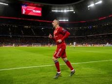 Lattaquant français du Bayern Munich, Franck Ribéry. AFP