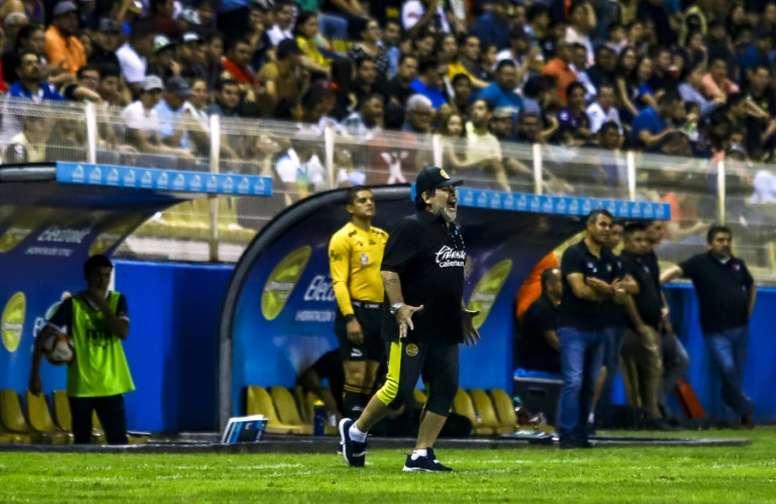 Maradona tiene a Dorados con un pie en la final. AFP