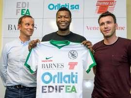 Francês é reforço do Yverdon Sport. AFP