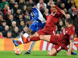 Marega, l'espoir de Porto face à Liverpool. AFP