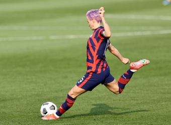 Rapinoe talks about the match against Canada. AFP