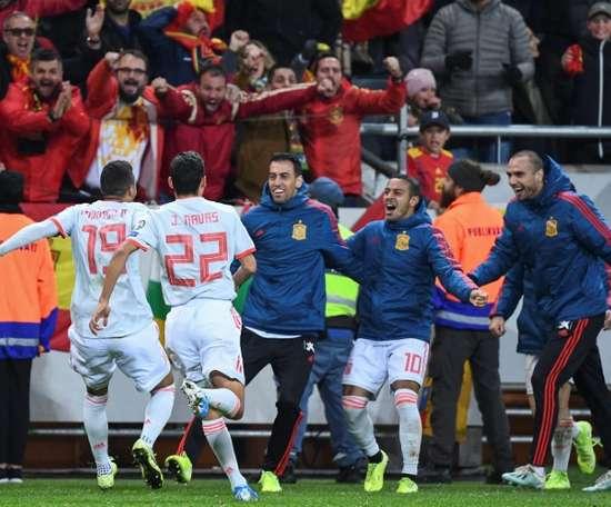 L'Espagne se qualifie en arrachant le nul en Suède. AFP