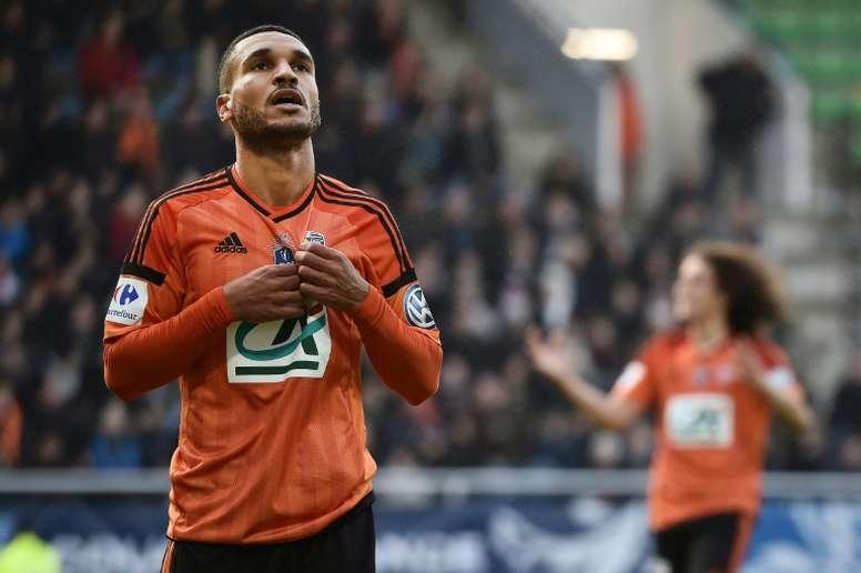 El jugador del Lorient interesa al Espanyol. AFP