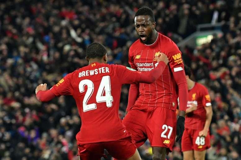 El Liverpool cuenta sus partidos en Premier League por puntos. AFP