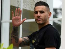 Hernandez has had a look around Bayern's facilities. AFP