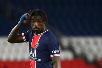 Moise Kean destacó cedido en el PSG la pasada temporada. AFP