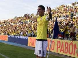 Colombia se llevó la victoria ante Camerún. EFE/Archivo