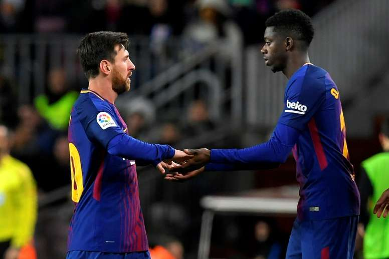 Dembele has his moment to shine. AFP