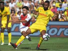 Djidji se formó en las filas del Nantes. AFP