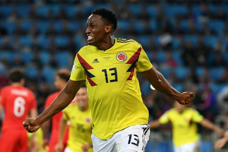 Everton are in talks with Barcelona for Yerry Mina. AFP