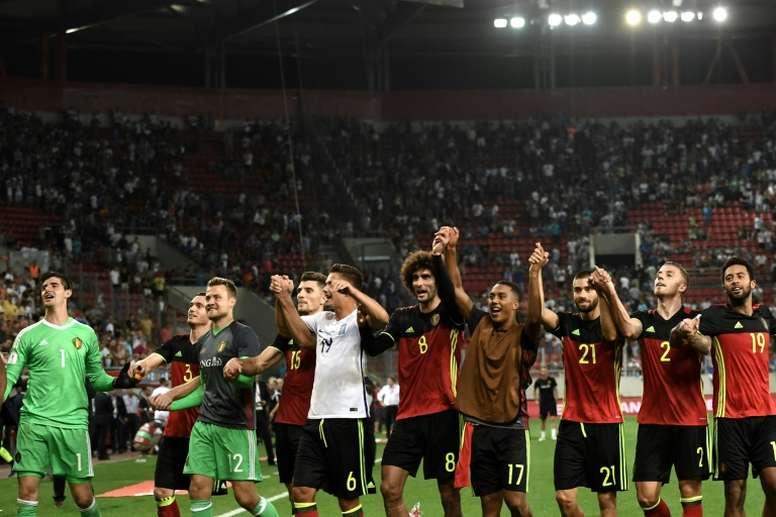 Bélgica quiere sacar músculo. AFP