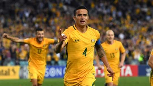 Postecoglou hails Australia hero Cahill. AFP