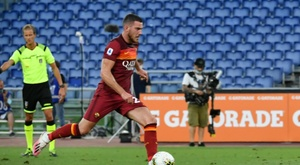 Roma wore their new kit. AFP