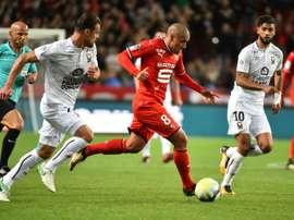 O criativo do Rennes deu o triunfo à sua equipe. AFP