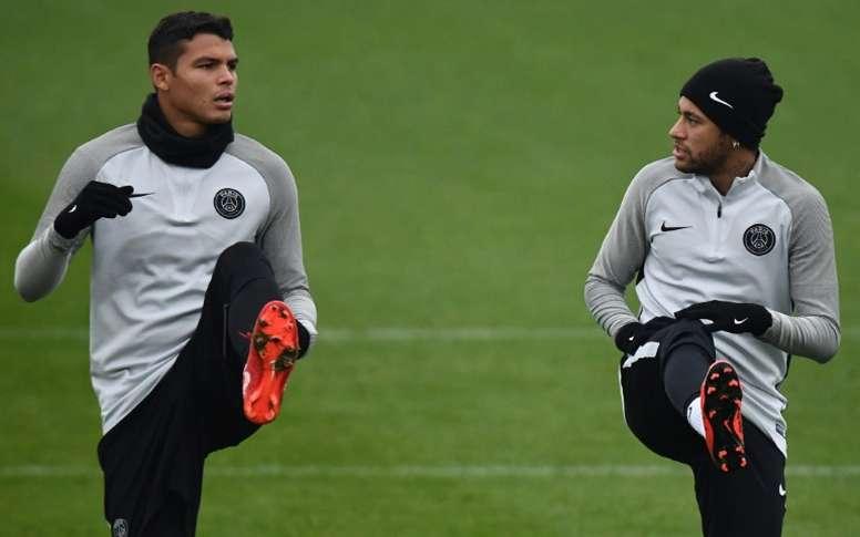 Thiago Silva gostaria que o compatriota ficasse. AFP