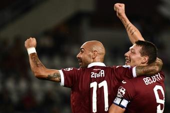 Il Cagliari valuta lo scambio Simeone-Zaza. AFP