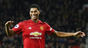 Marcus Rashford has been linked with the Catalan giants. AFP