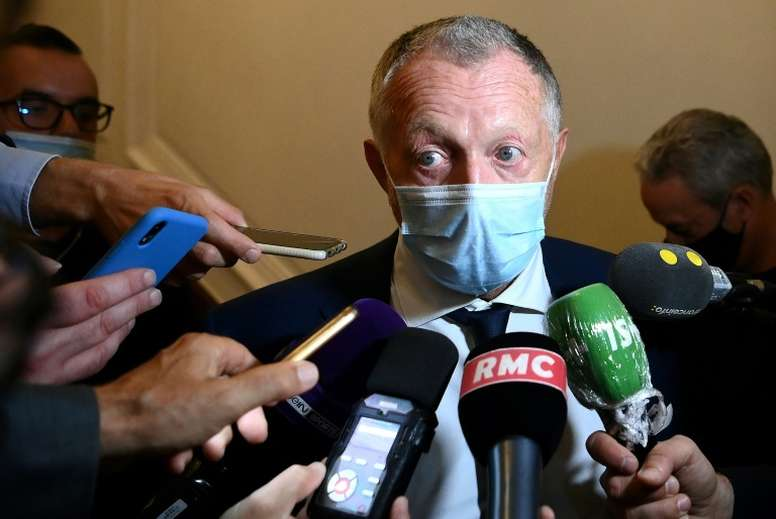 Aulas has a plan for how French football should be broadcast. AFP